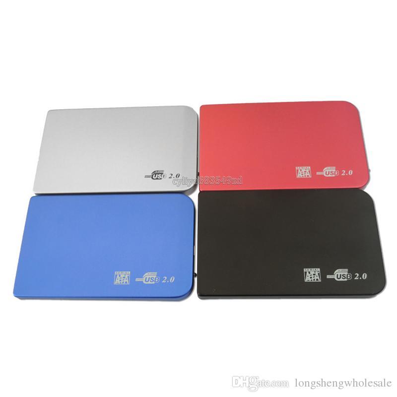 S2502 EL5018 Disco duro del disco duro del disco duro del USB 2.0 Disco duro del disco duro del disco duro Disco externo del Sata HDD de 2.5 pulgadas Caja portátil de la aleación de aluminio del Super Slim