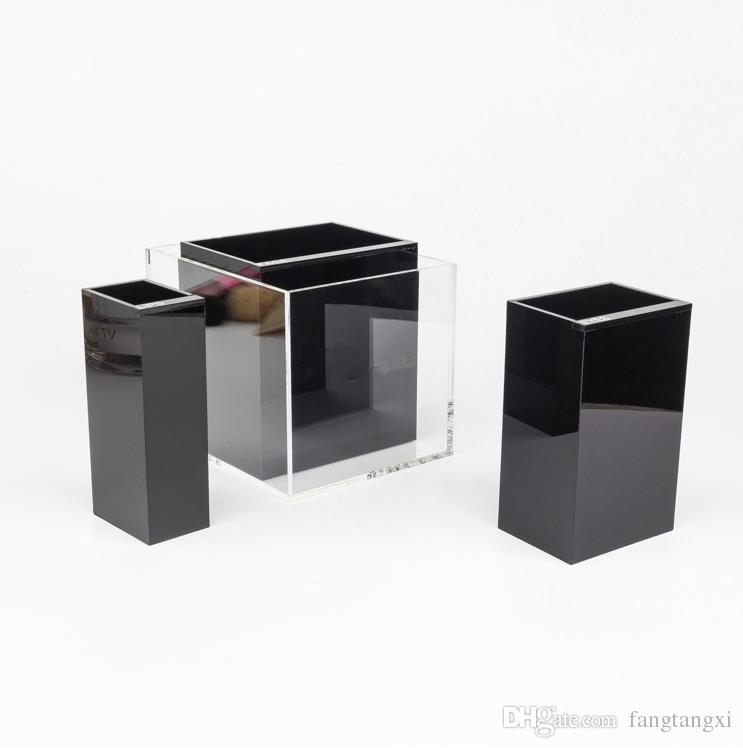 2017 clássico de alta qualidade acrílico higiene Compor 3 Caixa de armazenamento de grade / armazenamento multifuncional cosmético com caixa de presente