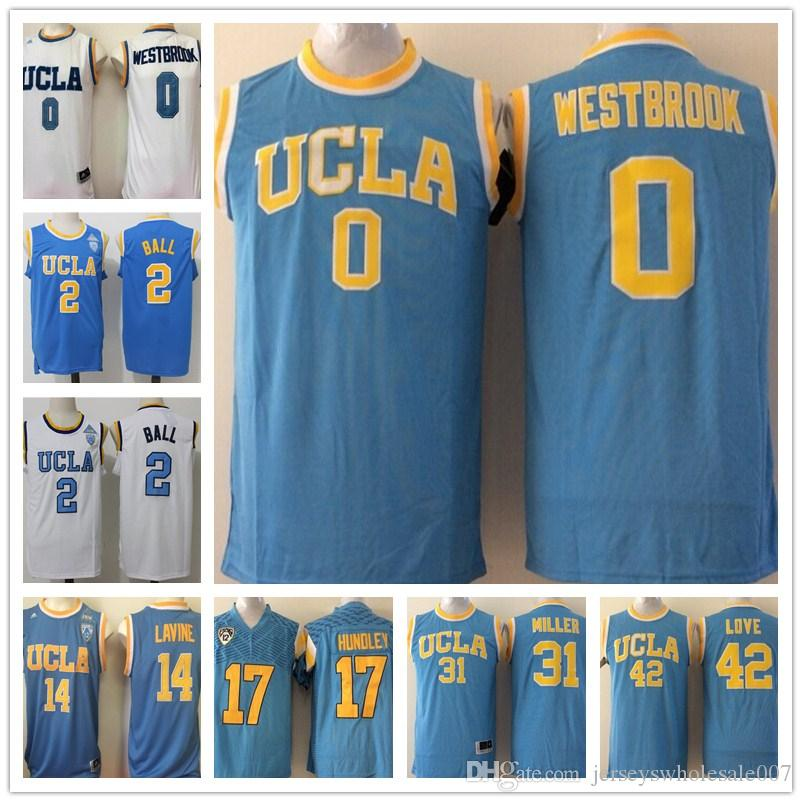 8604f895e6e6 ... free shipping 2019 hotselling ucla bruins college basketball jerseys 0  russell westbrook 2 lonzo ball 14