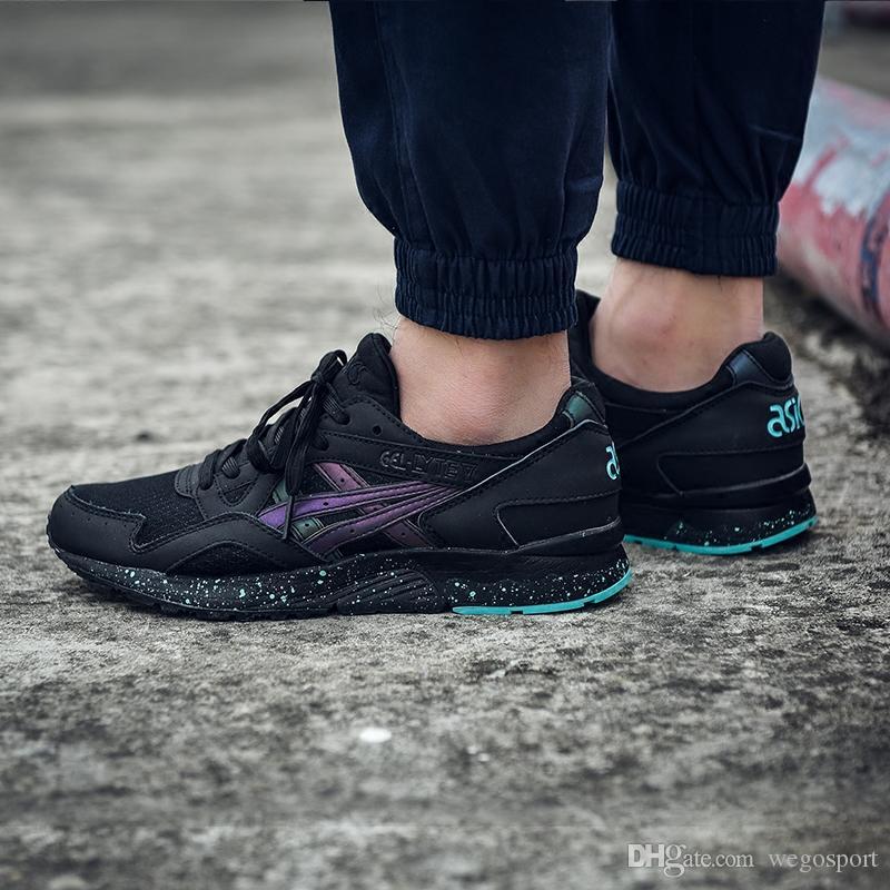 a88a54aee88 Compre 2019 Asics Gel Lyte V Cavaleiro Negro H6Q2L 9090 Homens Sapatos  Femininos Tênis De Corrida Original Botas De Caminhada Tênis De Basquete  Sapatos De ...