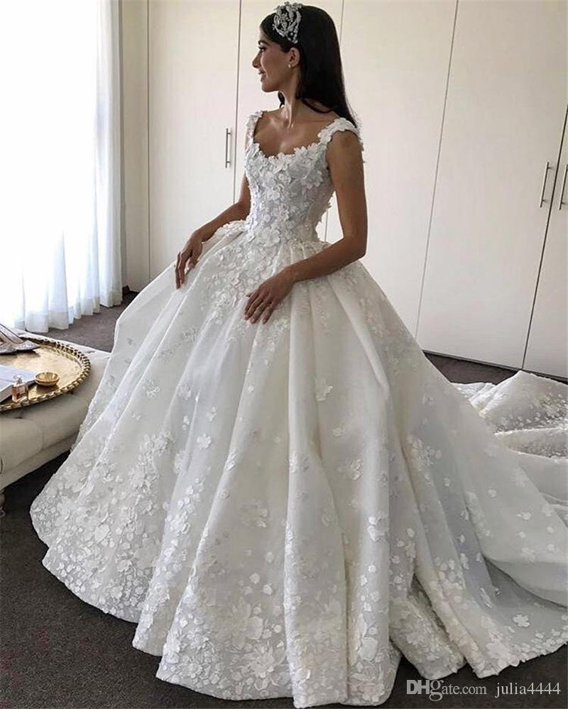Vintage Church Cathedral Train Wedding Dresses 2017 Modest Handmade ...