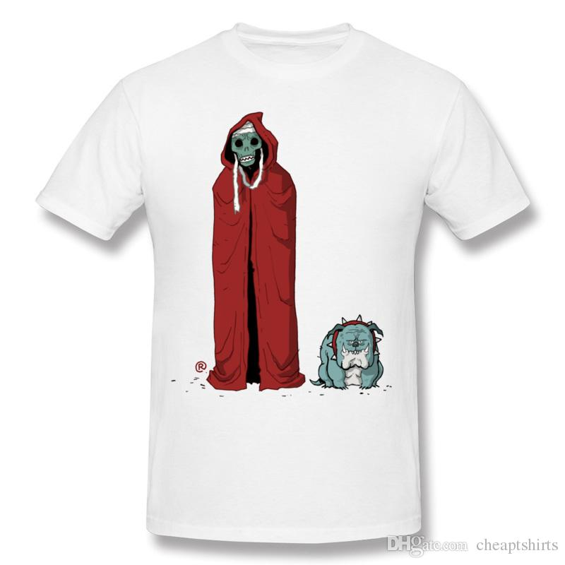 Halloween style men's short-sleeved tees crew neck T-shirt ghost printed new trend simple type clothing for boy Mumm& best friend