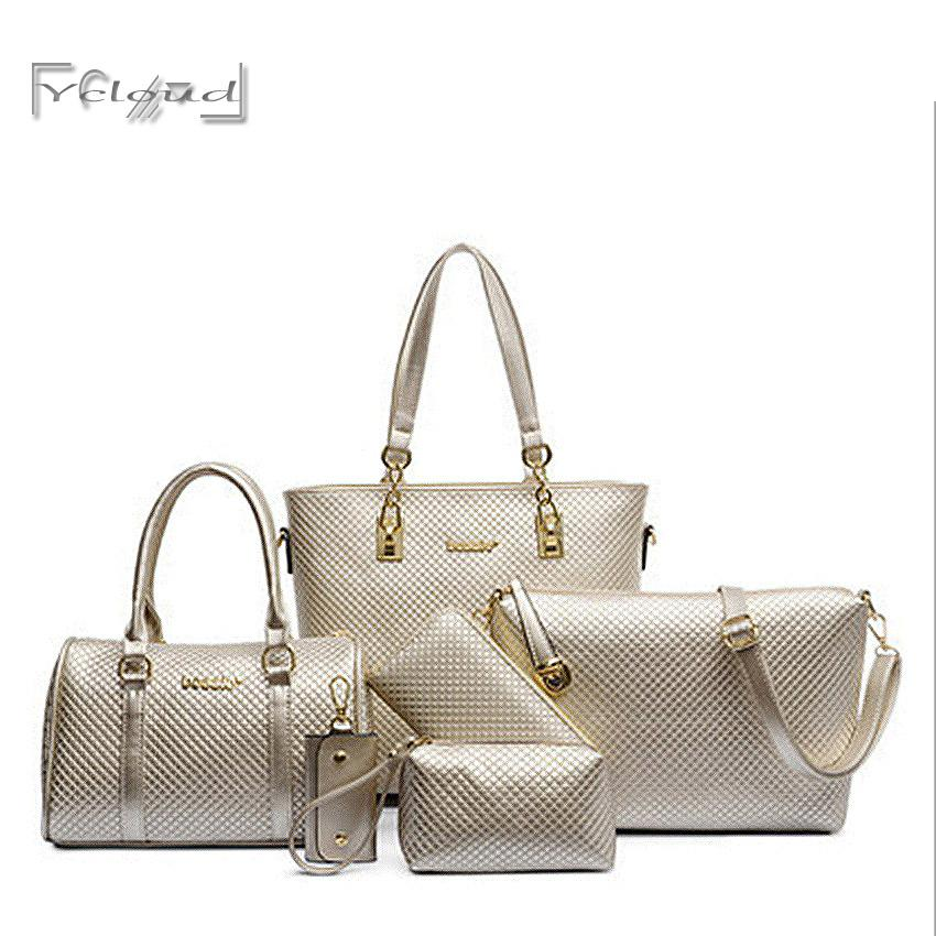 3debba0fee Wholesale European And American Fashion Solid Big Women Leather Handbag  Quilted Composite Bag Messenger Shoulder Tote Best Handbags Cute Handbags  From ...
