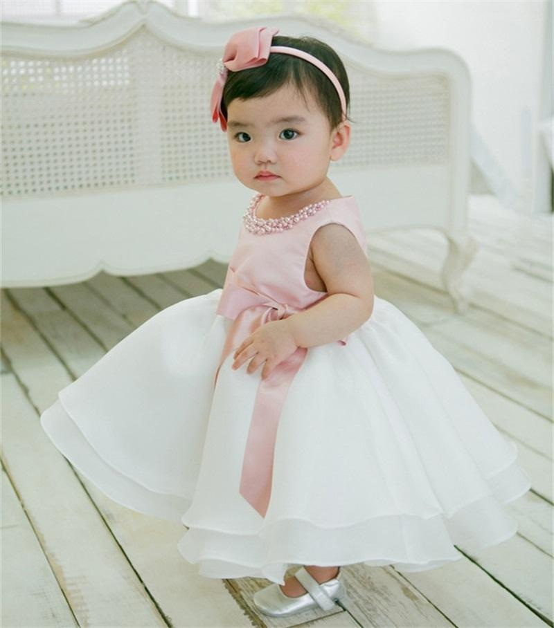 2caa0c15 2019 Wholesale Newborn Baby Girl 1st Birthday Outfits Little Bridresmaid  Wedding Gown Kids Frock Designs Girls Christmas Dress Baby Tutu Dress From  ...