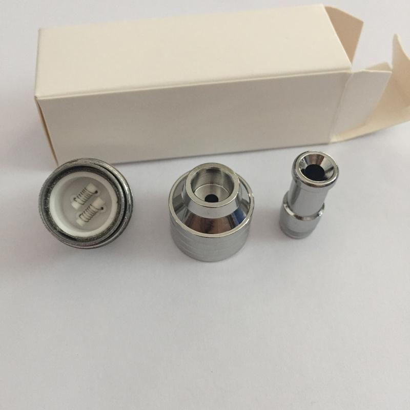 ego 510 fil RBA atomiseur double tige en céramique double mèche en céramique sec herbe atomiseur vaporisateur de cire vaporisateur acier inoxydable DAX réservoir