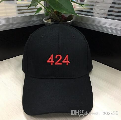 Brand 424 Cap Snapback Hats Peaked Flat Panel Sport Baseball Black Adjustable Hip Hop Street Popular Fashion Men Women Streetwear ovo drake