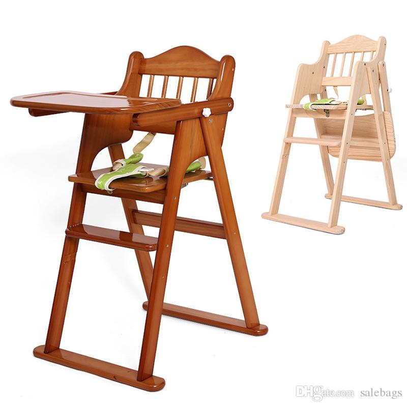 best good quality baby feeding seat solid wood foldable infant