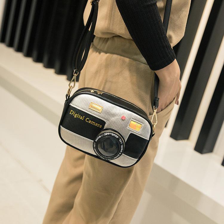 Novelty Designer Handbags High Quality Women Personalized Camera Shoulder Bag Patchwork Fashion Laser Messenger Bags