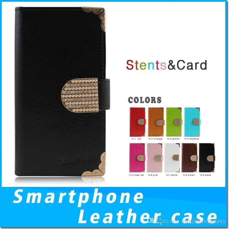 Lujo para el iphone x PU Flip Wallet Funda para teléfono para ZTE zmax pro Z981 Metropcs ZTE Avid 4 MetroPCS cubierta protectora monedero