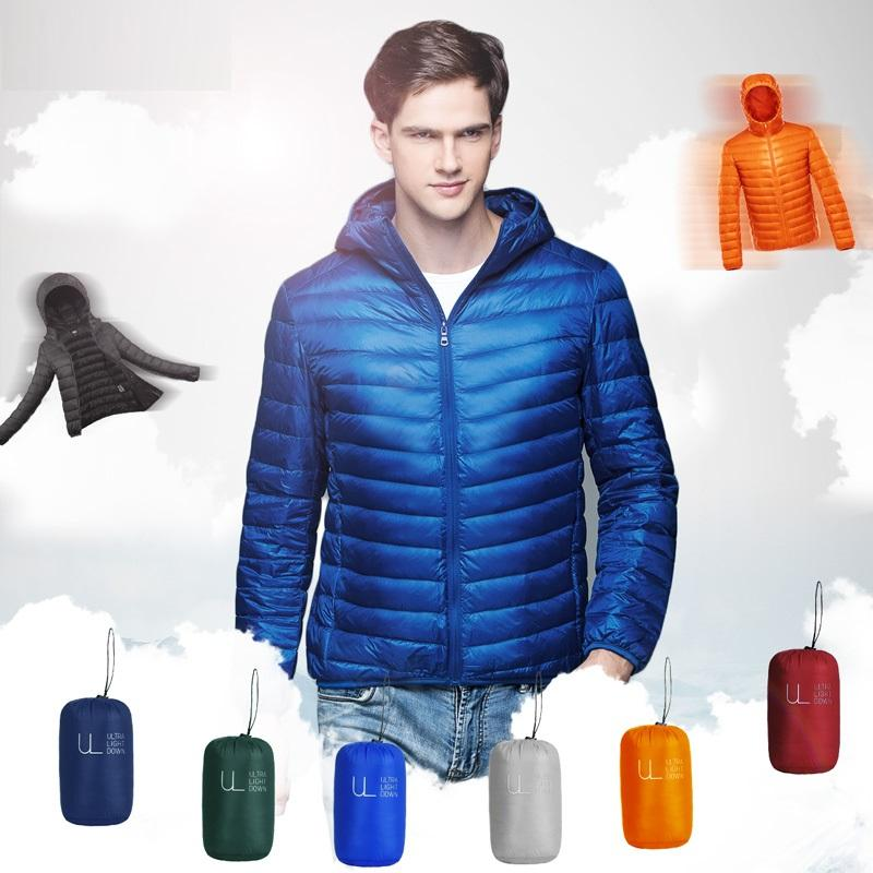 2016 New Ultralight Down Jacket Men Winter Coat 90 Duck Down Jackets Men With a Hood Outdoors Winter Parka With Carry
