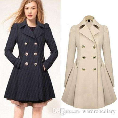 726f4f6fa37d1 2019 Fashion Jackets Ladies Lapel Winter Warm Long Parka Trench Outwear  Size S XXL Trench Coats Outerwear Women Clothing Free Ship DHL From  Wardrobediary