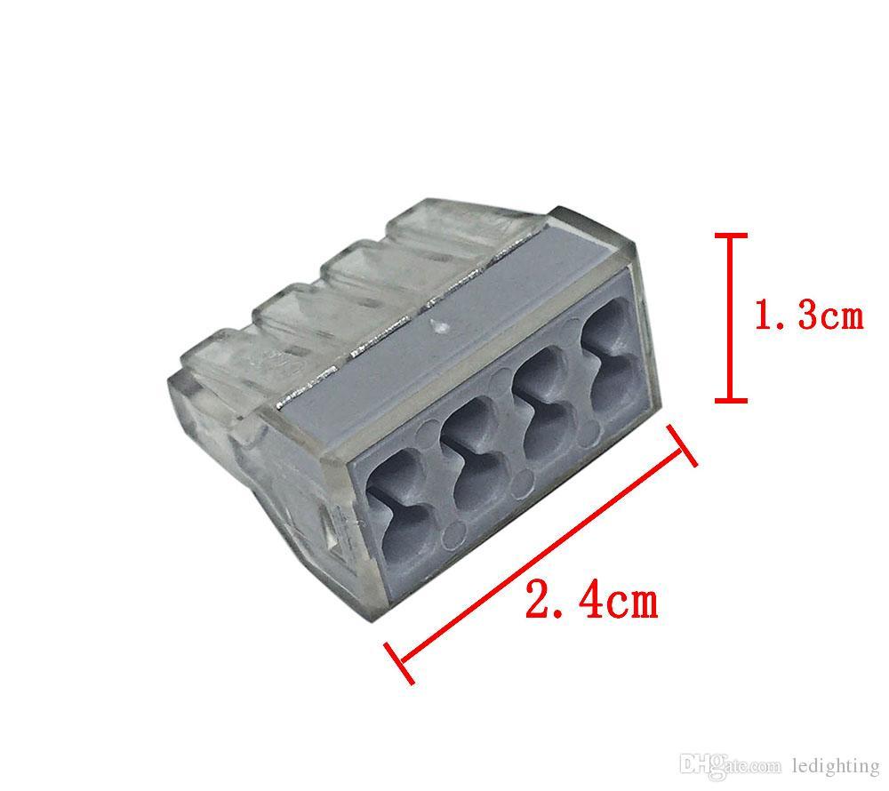 Conector de cableado de alambre de empuje para caja de conexiones Bloque de terminales de conductor de 6 clavijas * AWG NB-6