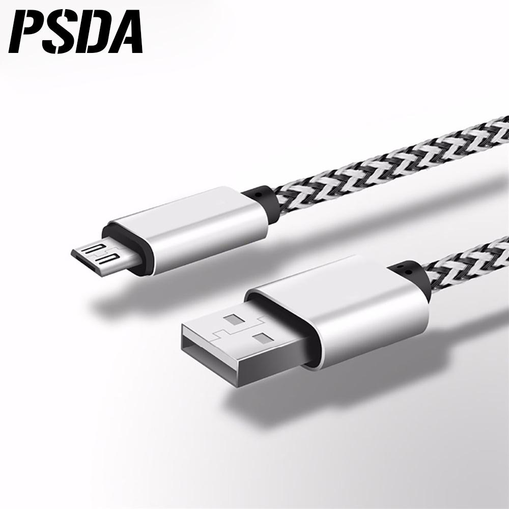 Micro Usb 200cm Alloy Metal Braided Data Sync Charging Cable For ...