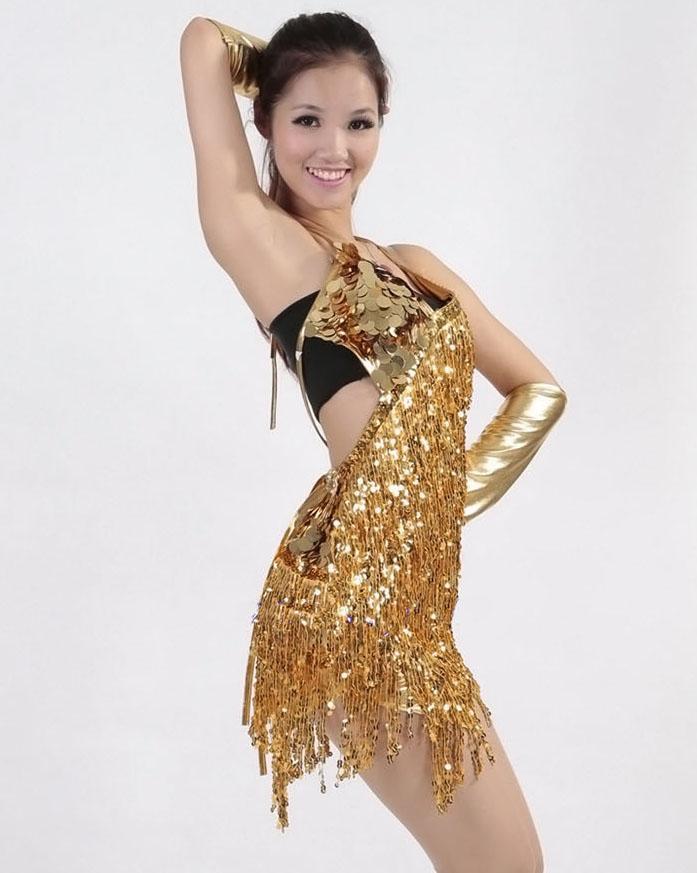 Women fringe tassel latin ballroom salsa cha cha Samba rumba jive dancewear competition Sequin fancy dress costumes for sale