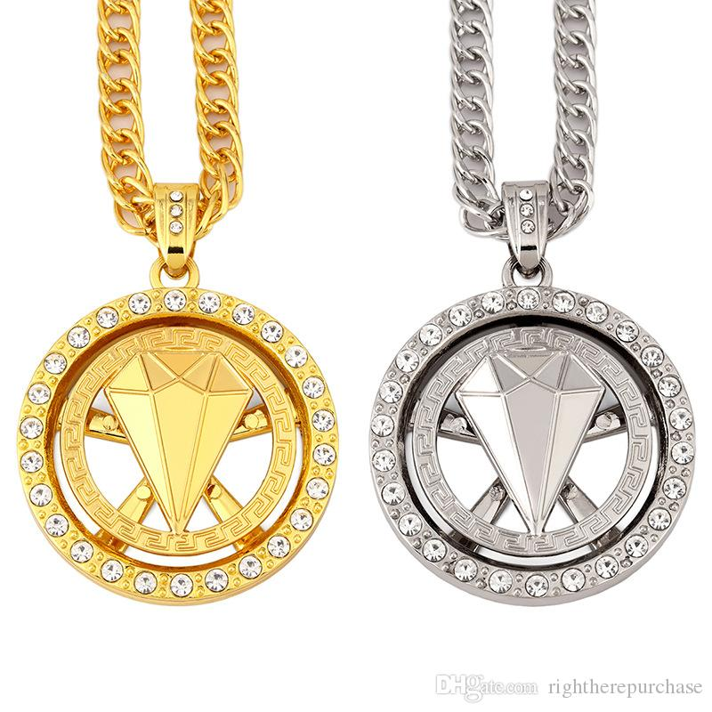 wholesale fashion design male charms hip hop chains big necklace