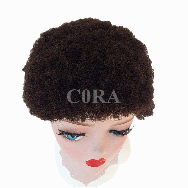 Novo Apertado Afro Crespo Encaracolado Celebridade curto corte curto perucas com cabelo do bebê glueless brasileiro virgem curto cheio de renda perucas de cabelo humano