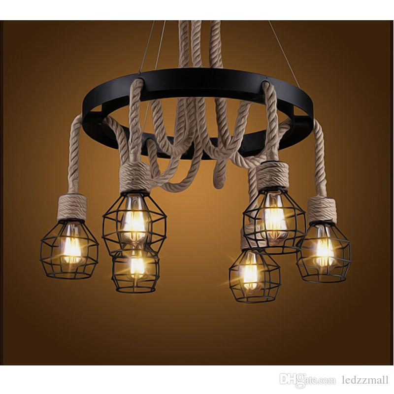 Retro rope industrial pendant lights edison vintage restaurant retro rope industrial pendant lights edison vintage restaurant living bar light american style nordic fixtures lighting star pendant light 3 light pendant aloadofball Image collections