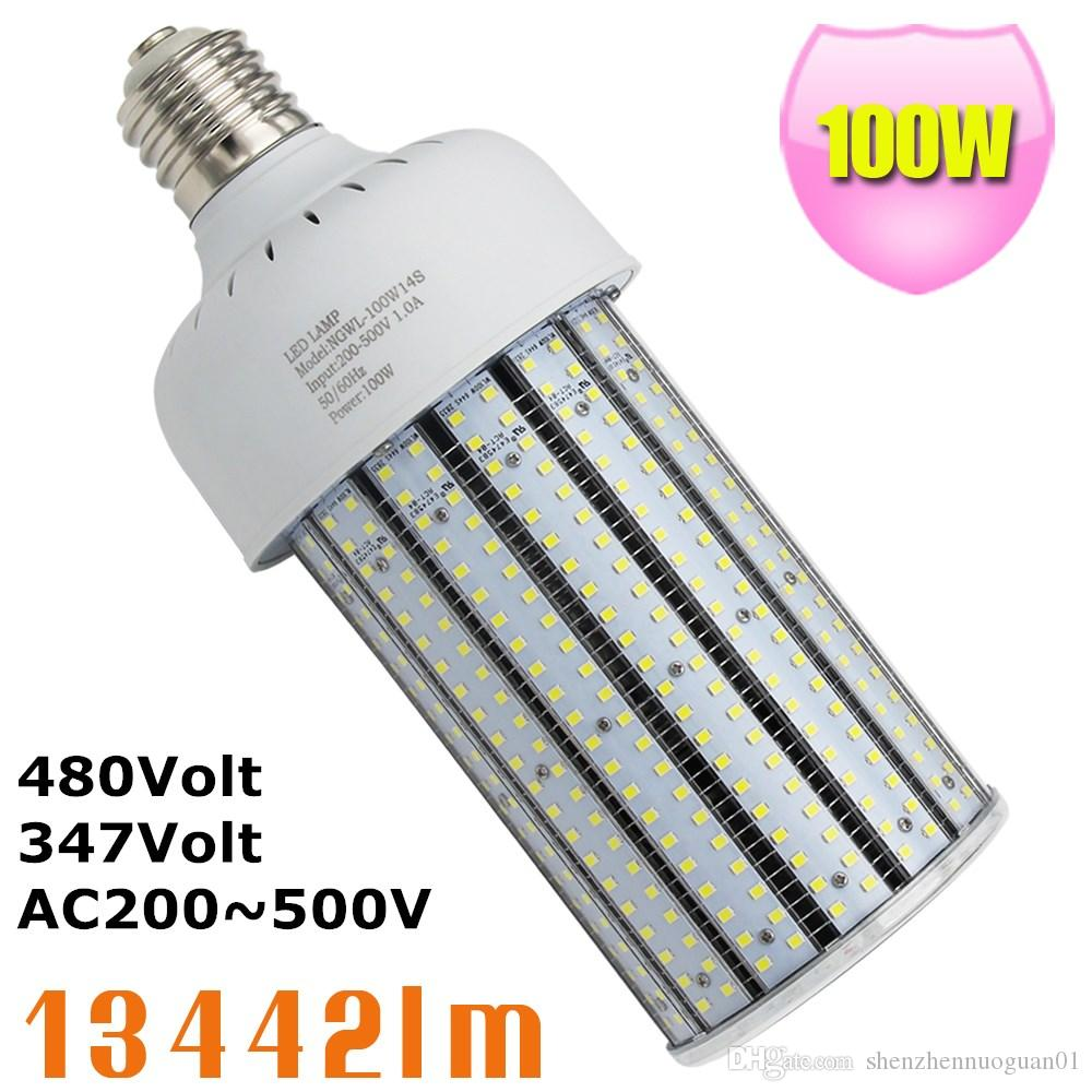 Cost To Install Parking Lot Light Pole: 480V 347V 400W Metal Halide Replacement 100W LED Corn