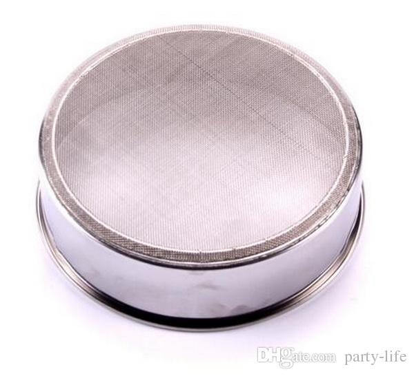 12*4.4cm Stainless steel sieve cup screen mesh powder flour.