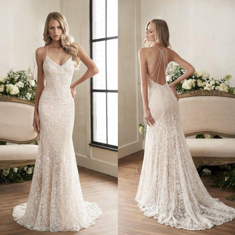 Jasmine 2018 Crystal Mermaid Wedding Dresses Vestido De Novia Sexy ...