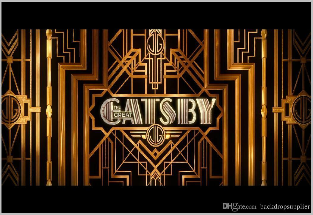 Großhandel 7x5ft Schwarz Gold Gatsby Muster Rahmen ...