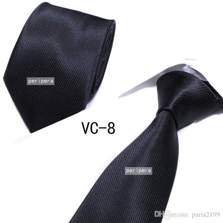 2018 vendite calde Moda cravatta di seta Mens Dress Tie matrimonio Business nodo solido vestito Cravatta cravatte da uomo