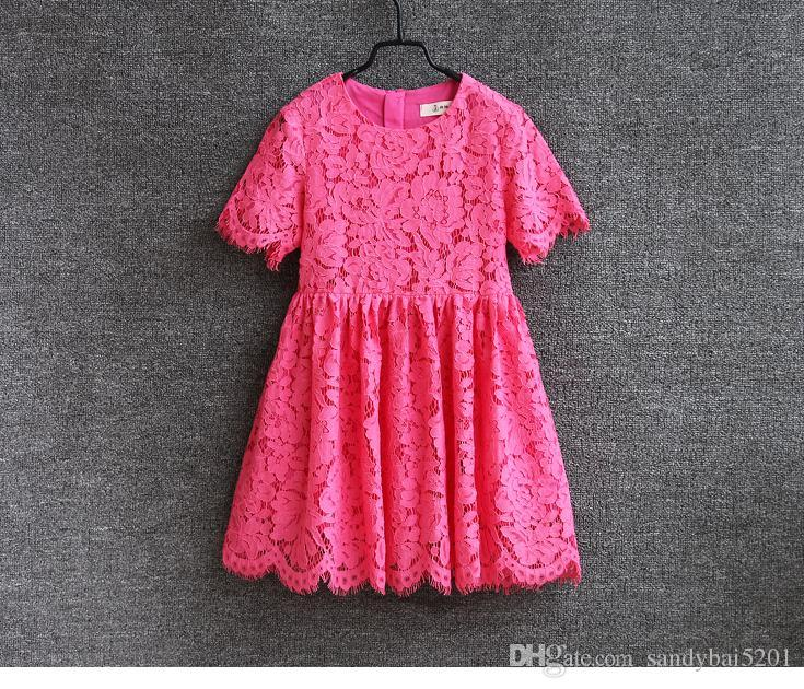 Mother Daughter Dresses 2020 Summer Mom and Me Lace Matching Dress Mother and Maughter Clothes for Party Kids Years Wear S072