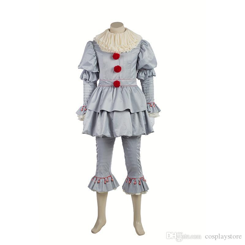 Cosplay Costume Stephen King's It Pennywise Full Suit Custom Made New Pennywise Costume Pattern