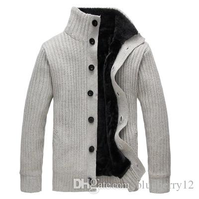 Winter Men Sweater Turtleneck Wool Coat Thick Cardigan Knitwear Sweaters Warm Fleece Hoodie sweatshirt Casual COAT