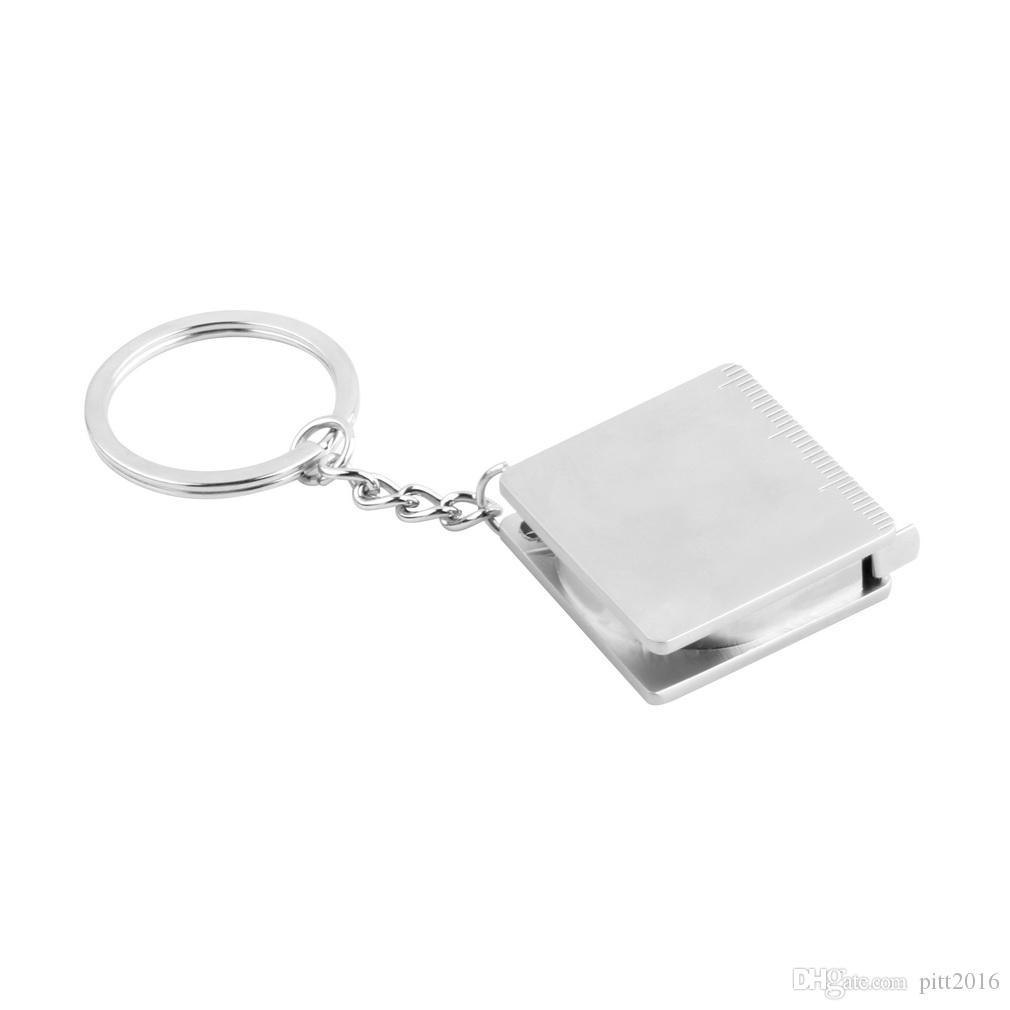 Portable plein métal règle ruban à mesurer multifonctionnel porte-clés porte-clés porte-clés porte-clés Livraison gratuite