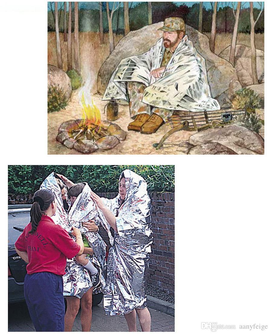 Multifunzione Outdoor Camping Impermeabile di sopravvivenza di emergenza Isolamento Foglio termico di soccorso pronto soccorso coperta - Disaster Response Tool