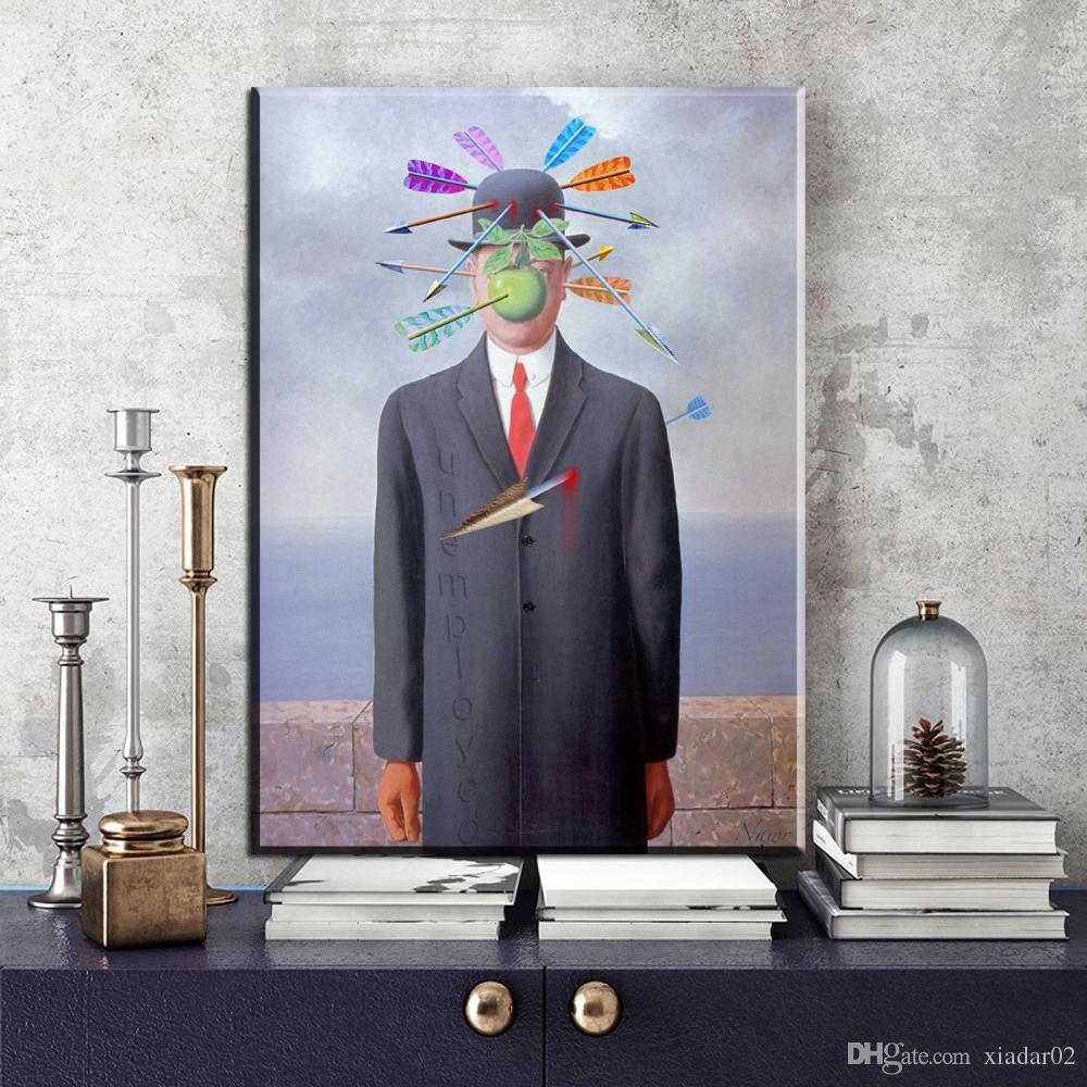Acheter ZZ2034 Toiles Célèbres De Rene Magritte Peintures ...