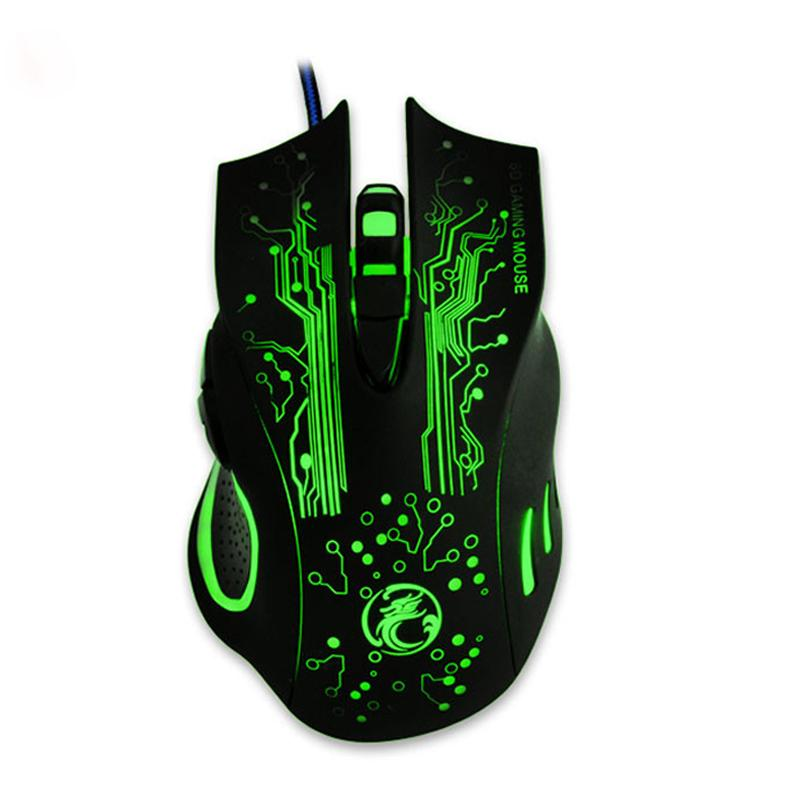 LED Optical 6D USB Wired Gaming Mouse Game Pro Gamer Mice For PC P4PM Computer Laptop New 2017 ESTONE X9