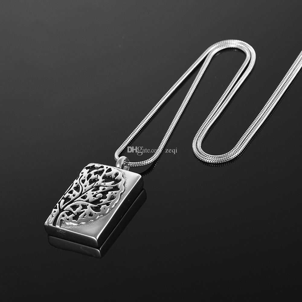CMJ9911 Three-dimensional Tree Pet/Human Cremation Jewelry 3D tree of Life Ash Holder Pendant Keepsake For Ashes Memorial Jewelry