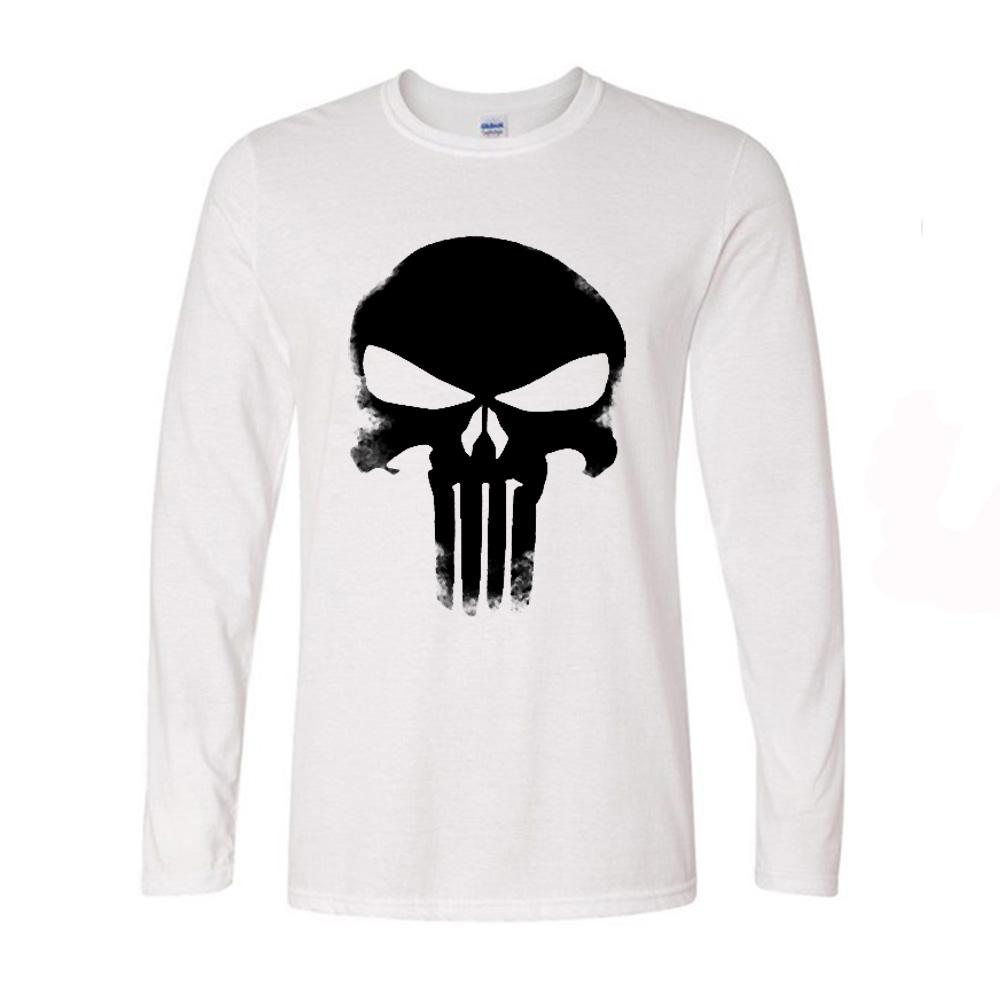 Punisher Classic Skull Mens T Shirt Fashion Men Long Sleeve T Shirts  Tshirts Alien Swag Spring Autumn New T Shirts T Shirts Designer Funny Tee  Shirt From ... 2b77892a0697