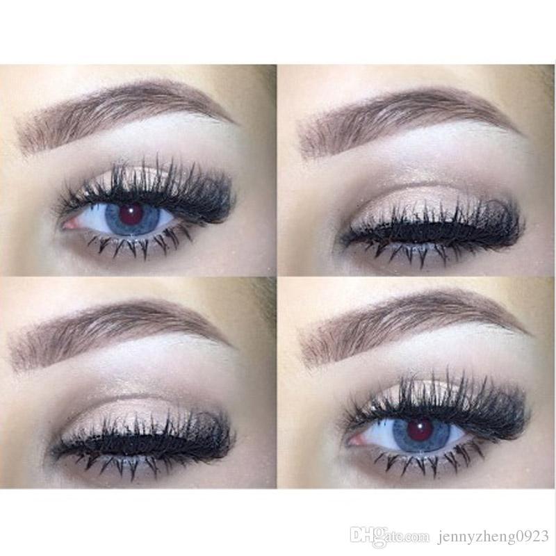 3D False EyeLash Thick Black 100% Mink False Eyelashes Makeup Tips Natural Smoky Makeup Long Fake Eye Lashes