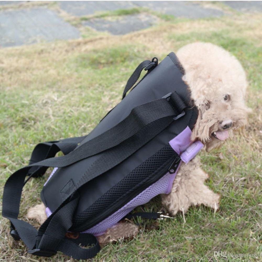الحيوانات الأليفة الكلب الناقل جبهة الصدر الظهر خمسة ثقوب على ظهره الكلب في الهواء الطلق حامل حقيبة الرافعة حامل شبكة القط جرو الكلب الناقلين