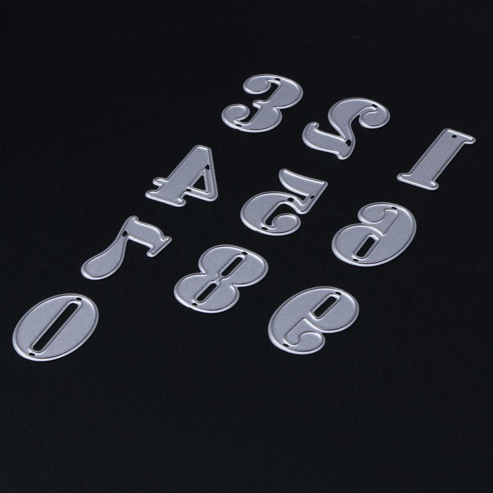 10Pcs/Set Carbon Metal Numbers Cutting Dies Stencils for DIY Scrapbooking Album Decorative Embossing Paper Cards Tools