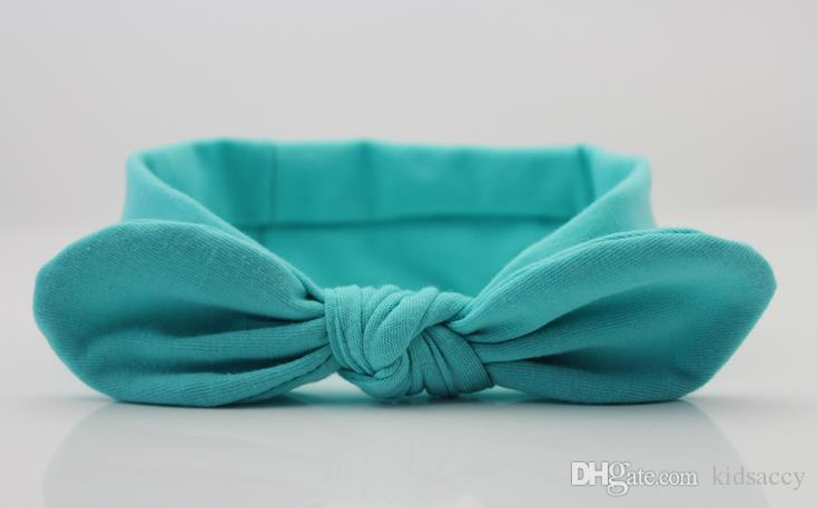 Dell'arco della fascia Xmas Bohemian cotone della neonata punto dell'onda del turbante dei capelli di torsione dell'involucro della testa del ritorto nodo fascia molle fasce colorate Bandane A7