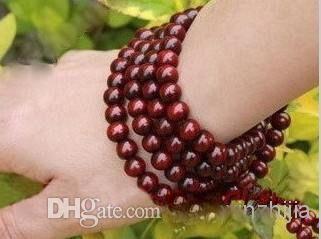 Wholesale Cheap Sandalwood 8mm Buddha Mala Buddhist Lucky bracelet Prayer Beads