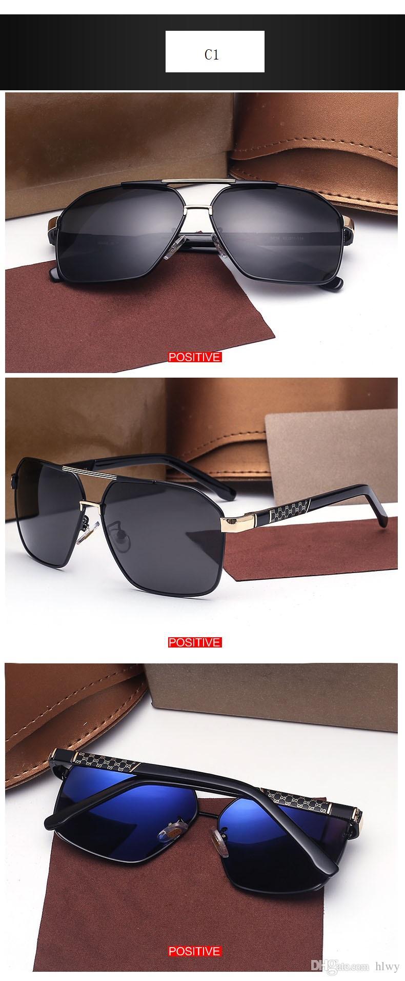 2017 hommes et femmes boîte lunettes de soleil stars européennes et européennes avec une nouvelle paire de lunettes de soleil vintage