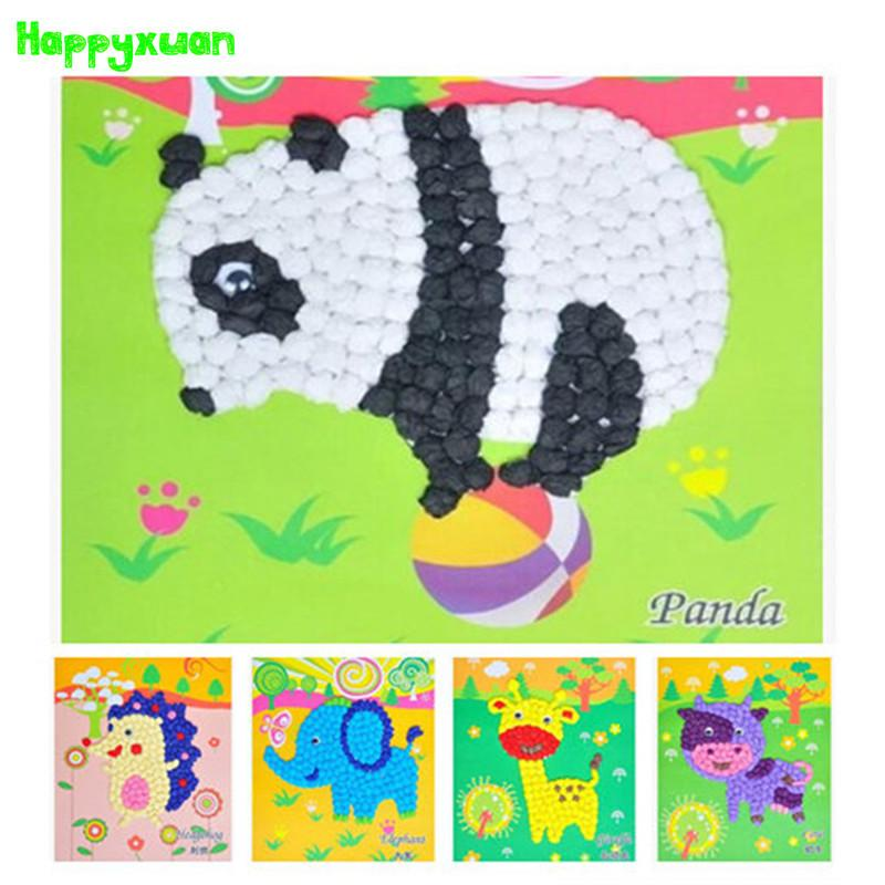 2016 New Diy Tissue Paper Ball Art Craft Animals Panda Horse