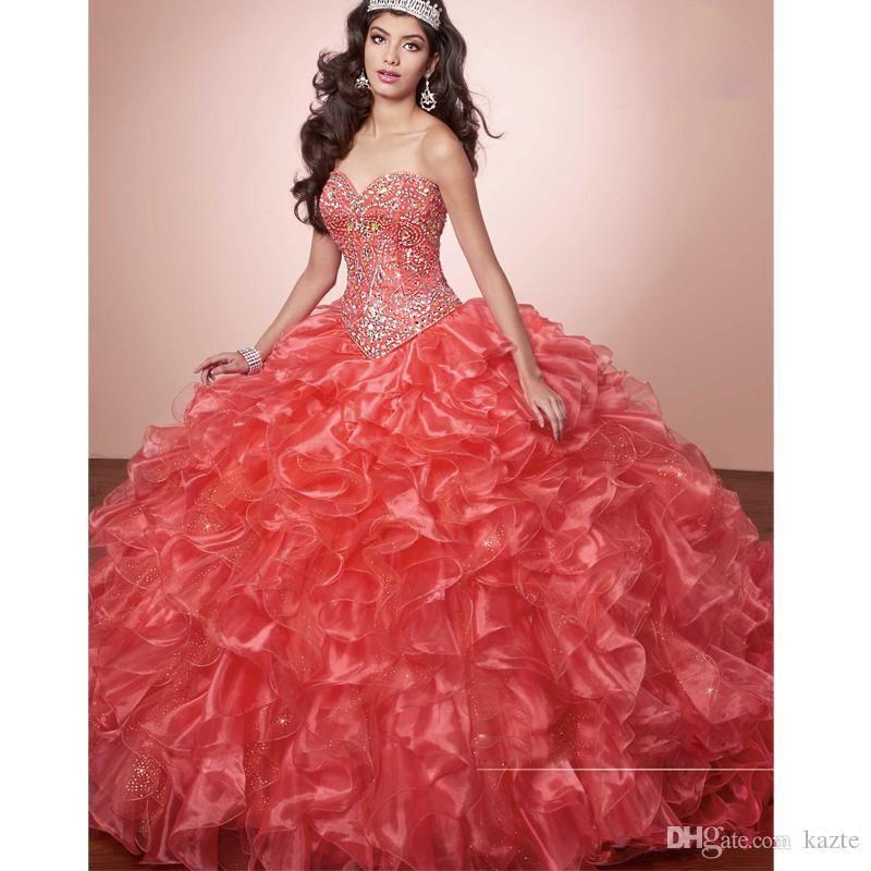 Бальное платье-маскарад Роскошные кристаллы Принцесса Puffy Quinceanera Платья Бирюзовые оборки Платье Vestidos De 15 с курткой Болеро