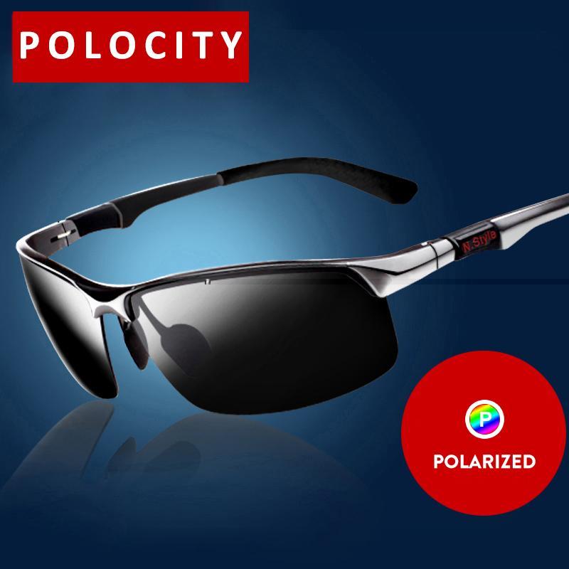 Großhandel von aluminum-magnesium Sonnenbrille Polarisierte Gläser Polarisierte fahren Sonnenbrille Spiegel Man Angeln Spiegel, 1