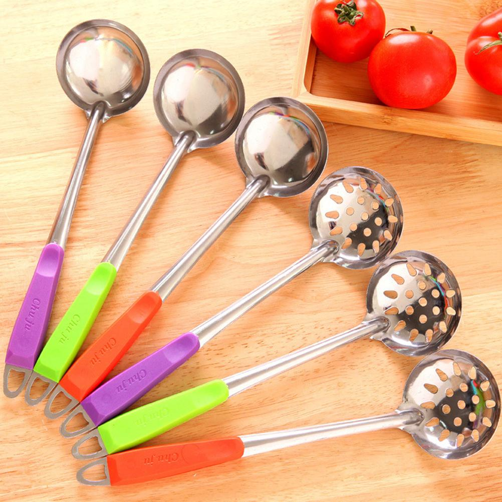 Wholesale- Stainless Steel Wall Hanging Long Handle Soup Ladle Spoon ...