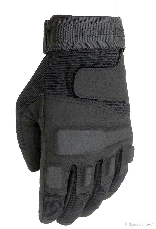 Seibertron Männer S.O.L.A.G. Special Ops volle Finger taktische Handschuhe Sporthandschuhe Größe XXS XS S M L XL 2XL Farbe schwarz