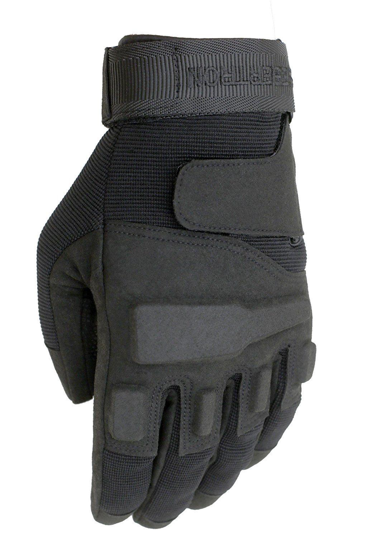 seibertron Men's S.O.L.A.G. Special Ops Full Finger Tactical Gloves sport gloves size XXS XS S M L XL 2XL Color black