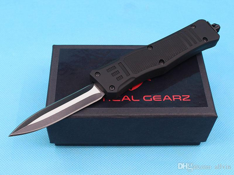 Allvin Manufacture Small Size 616 Auto Tactical Knife 440C Double Action Fine Edge Blade EDC Pocket Knives With Nylon Bag