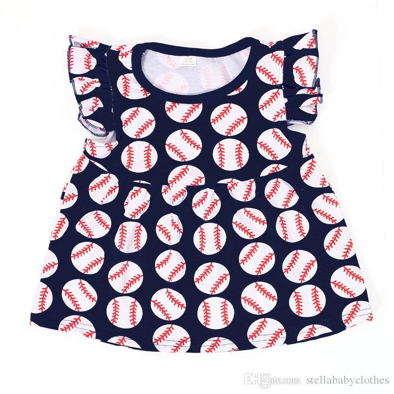 Vendita calda 2017 Estate Neonate Vestiti Baseball Bambini Abbigliamento bambini T-Shirt Pantaloni 2 pezzi set