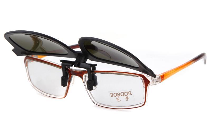 Moda Kare Polarize Güneş Gözlüğü Kadın Erkek Üzerinde Klip Up güneş gözlüğü parlama Anti-parlama UV400 Ayna Güneş Gözlük Miyopi